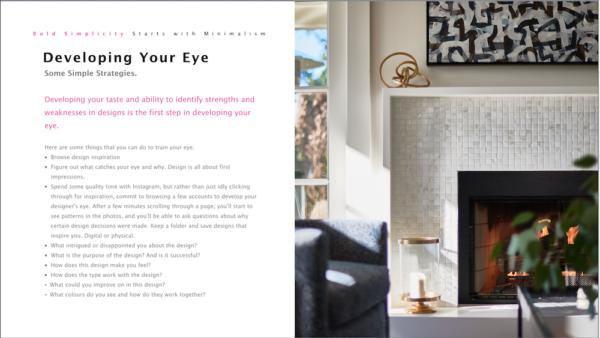 Developing your Eye